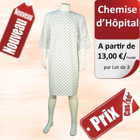 Chemise d'Hôpital Promo Vue de dos - Lot de 3