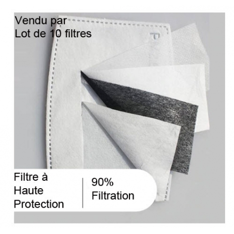 1 Masque AFNOR  DGA Cat 1 + 10 filtres FFP2 -