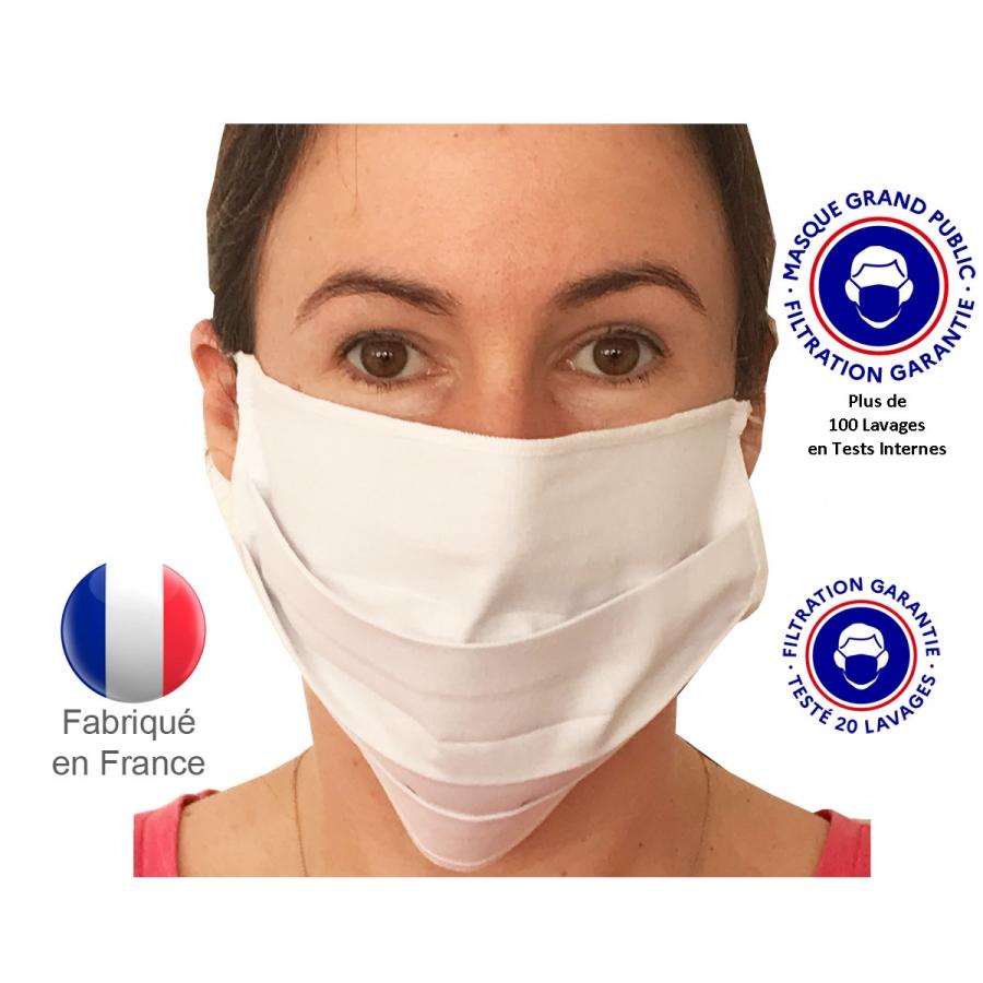 Masque de Protection - Masque chirurgical en tissu lavable et réutilisable